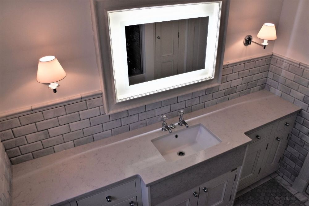 1909 Bathroom with Silestone Lagoon worksurface