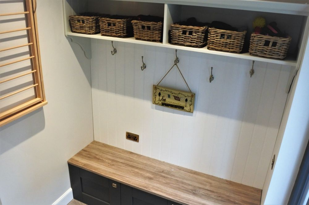 BA Wilton Boot Room/Utility in Graphite, Soft Grey & White Giffnock East Renfrewshire