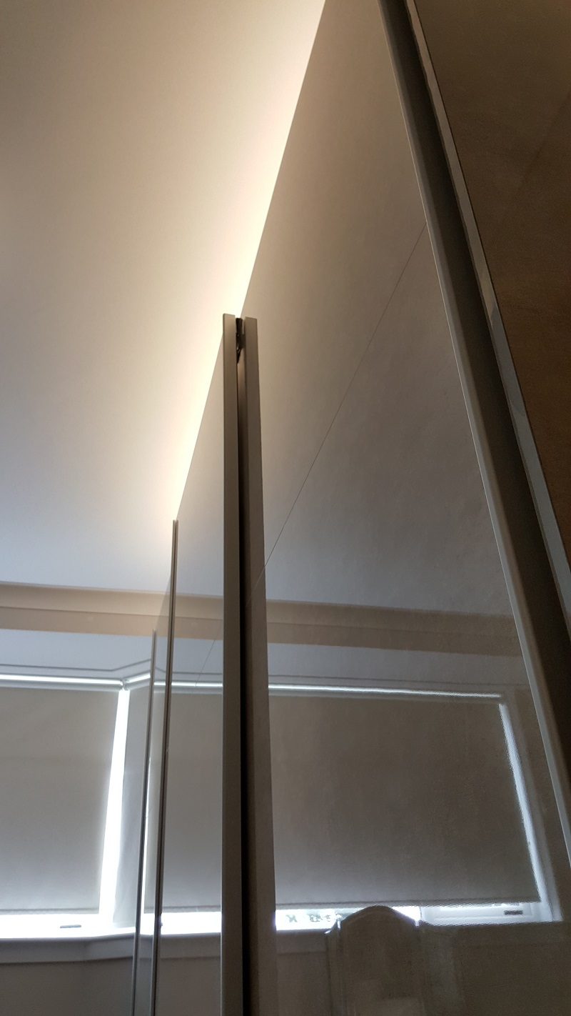 BA Glider Sliding Doors in Limestone High Gloss