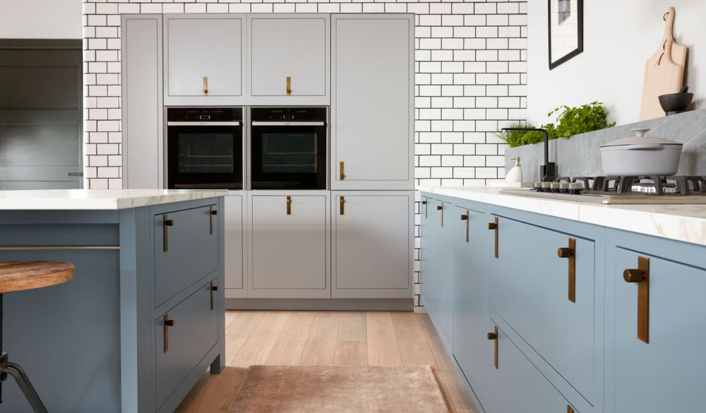 Slab 1909 Kitchen Cadet Blue