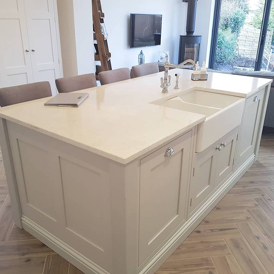 Shaker Style Tulipwood Kitchen Island