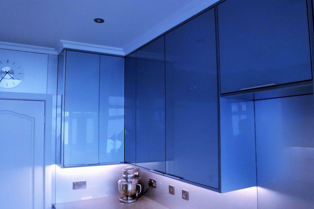 zurfiz blue full height cabinets