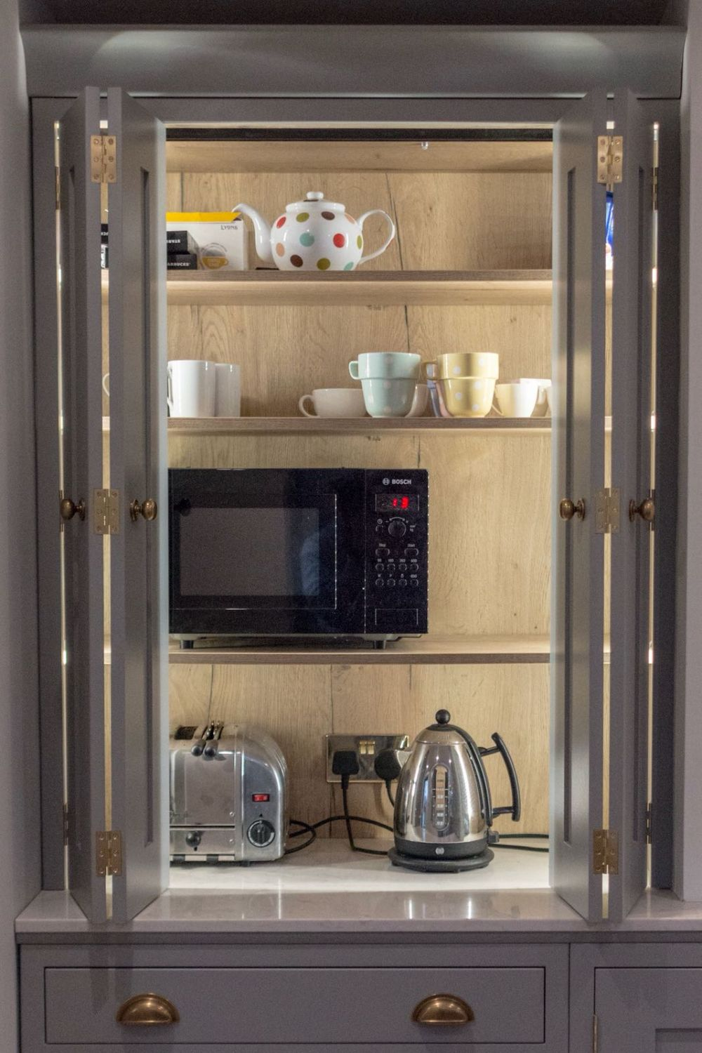 Bi Fold Four Door Inframe Pantry with sensor Lighting