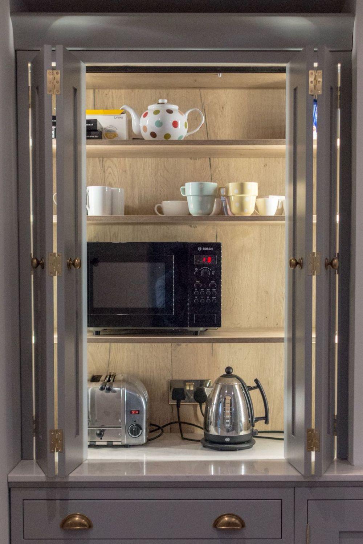 Bi Fold Four Door Inframe Pantry with sensor Lighting