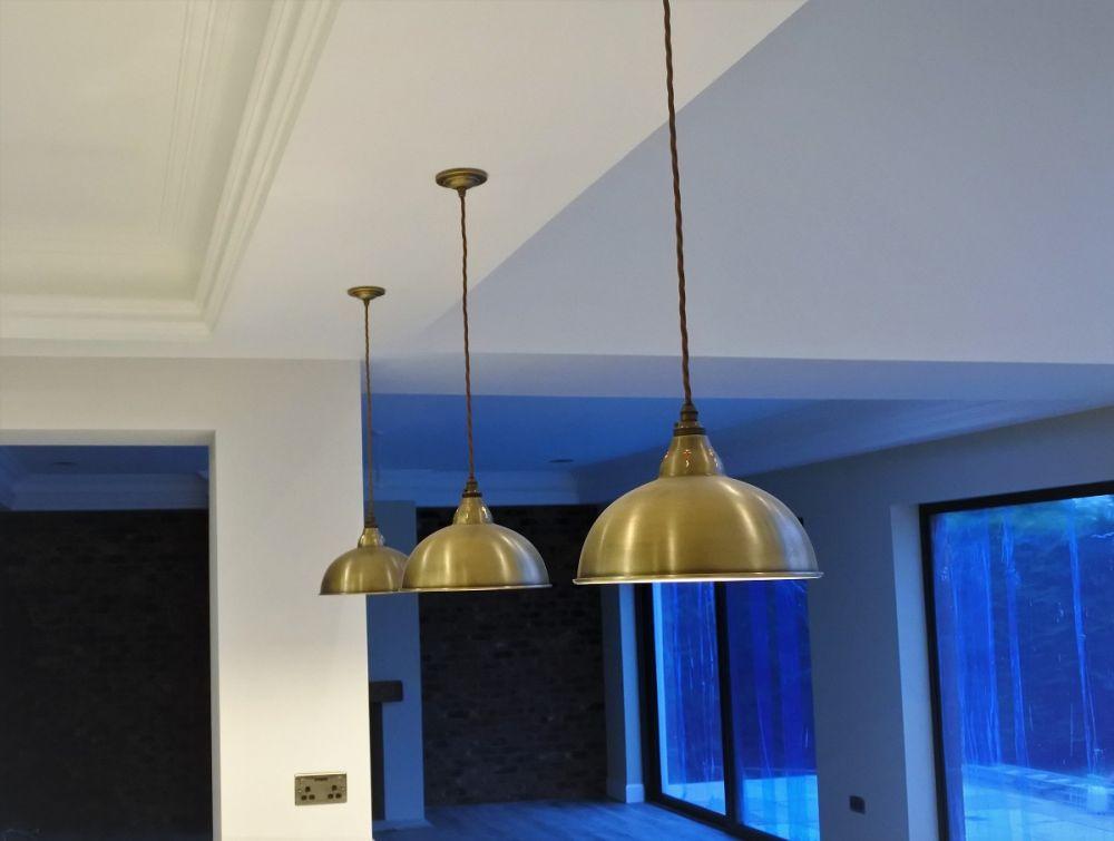 Antique Brass Lamp Shades