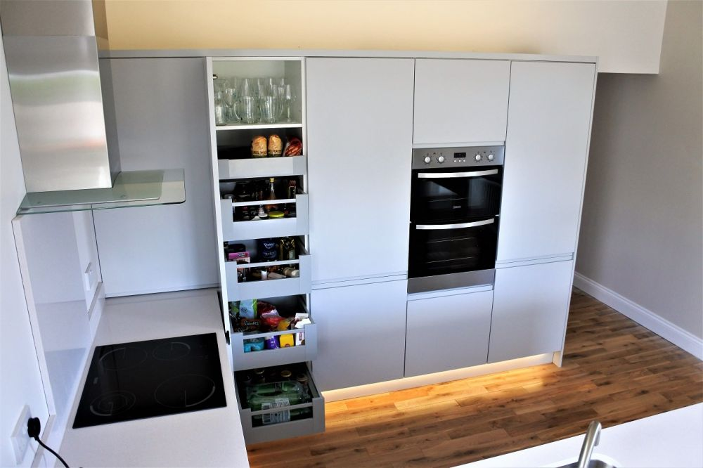 Blum Space tower in modern kitchen