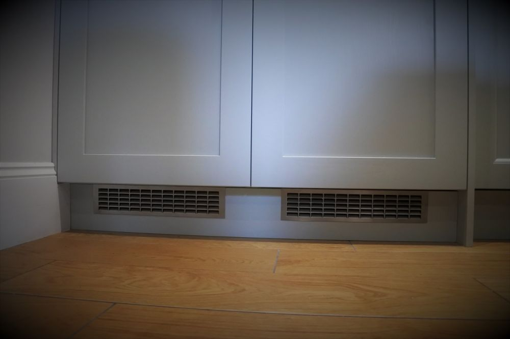 Brushed steel Grill fridge Ventilation
