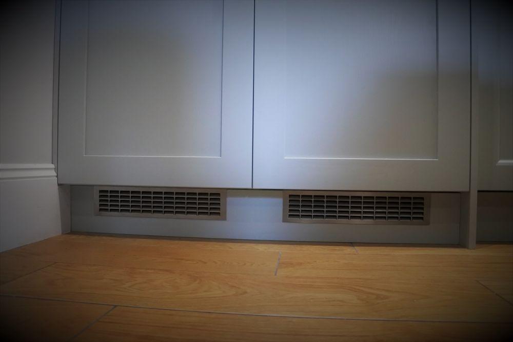 Brushed steel Grill fridge Ventilation