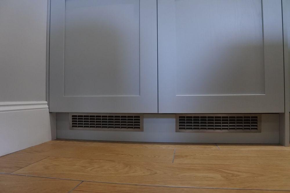 Refrigerator Vents allowing compressor cooling