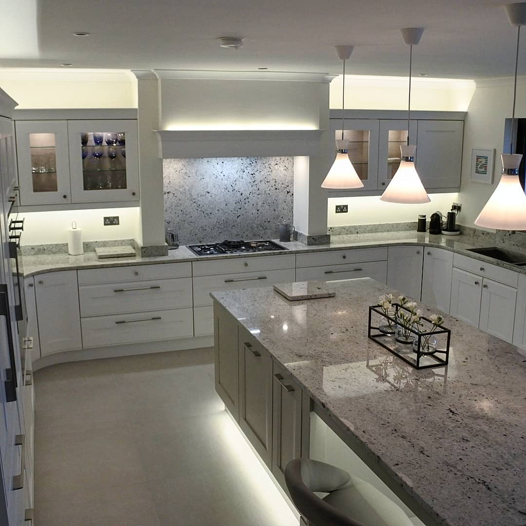 Bespoke kitchen white grey | Newton Mearns