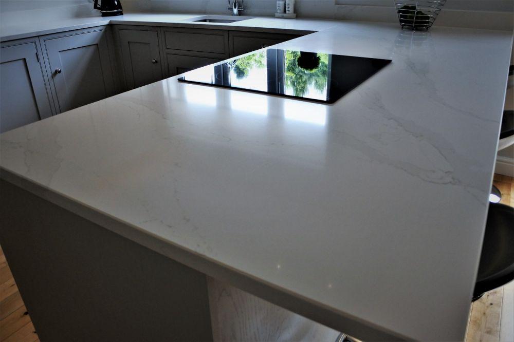 Calacatta gold silestone on an inframe kitchen