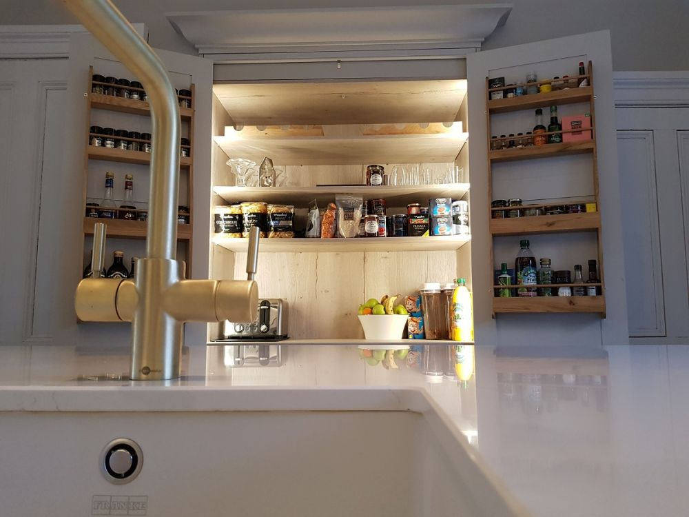 Arundel kitchen pantry with led sensor lighting glasgow