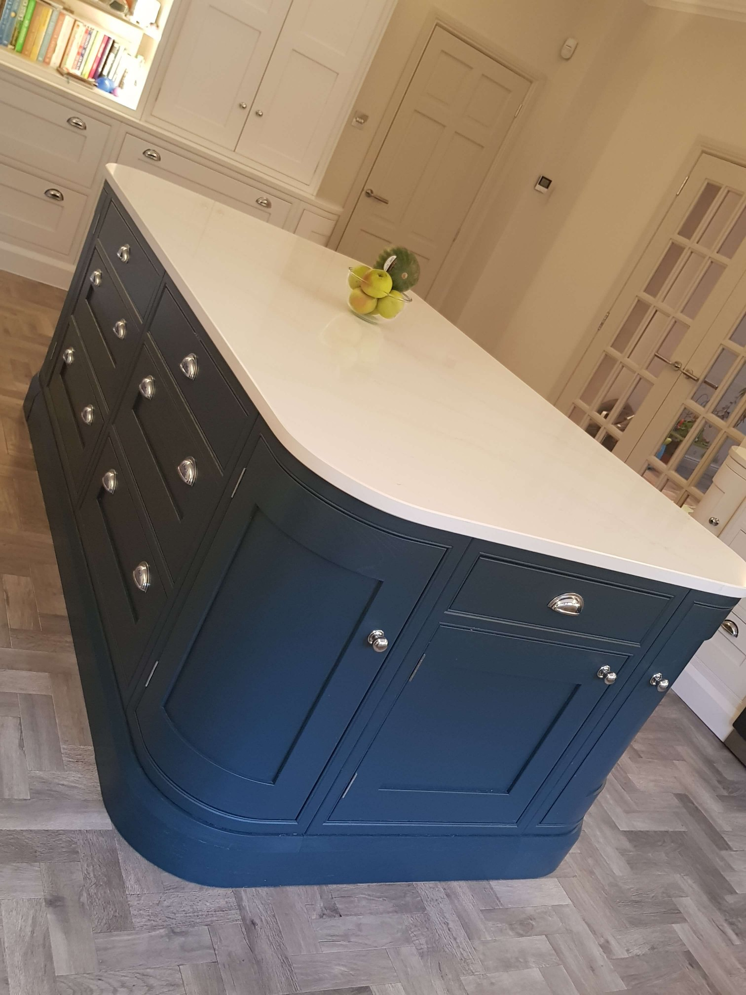 Bespoke Inframe Kitchen Island Detail