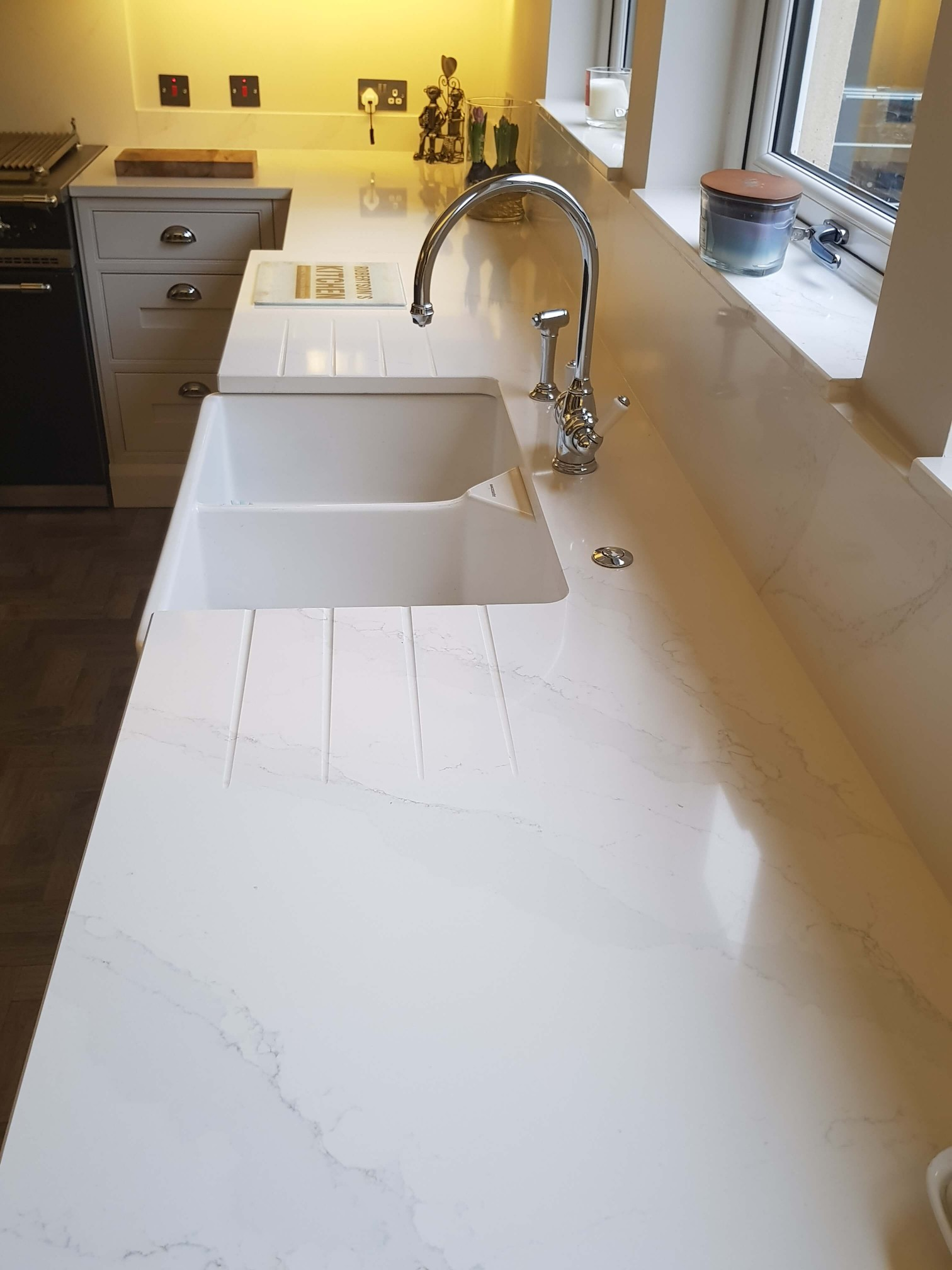 Bespoke Inframe Kitchen Belfast Sink and Tap