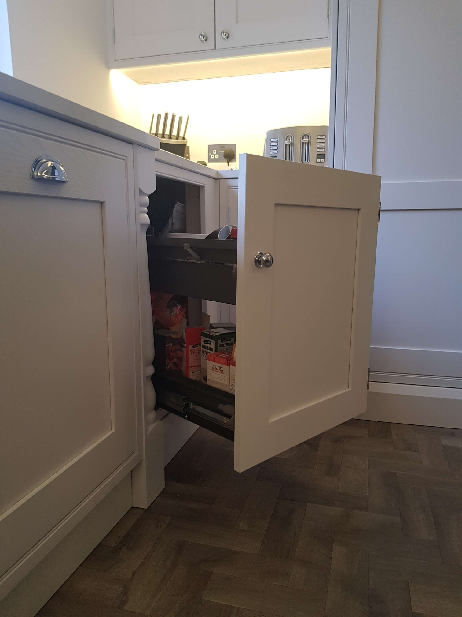 Bespoke Inframe Kitchen Storage Space