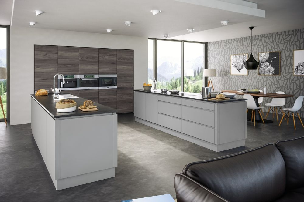 Rothwell Supermatt Light Gray Kitchen