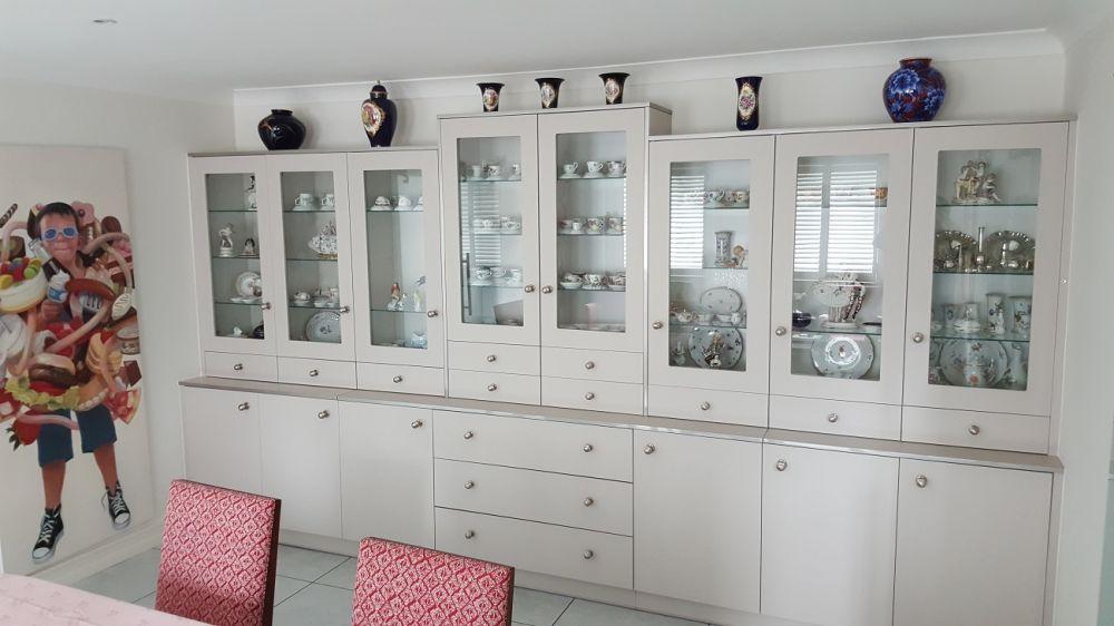 Zurfiz Display Cabinet Ultramatt Metallic Cashmere